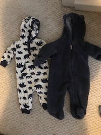 baby's black and white footie pajama Rochester, 02770