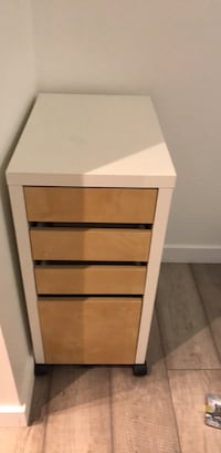 brown and white wooden 4-drawer chest Richmond, V6Y