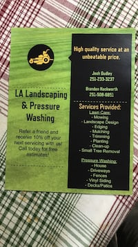 Would love to do business with you! Give us a call! Foley