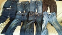 8 pair kids size 14 levis and abercombie Lumber Bridge, 28357