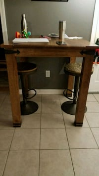 brown wooden framed glass top side table Taunton, 02780