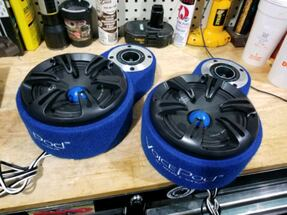 2 menace door pods with speakers and tweeters