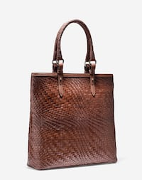 BNWOT Authentic COLE HAAN Genevieve N/S Large handwoven Leather tote Toronto