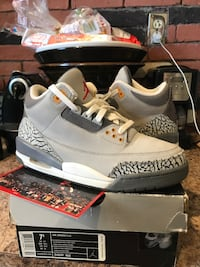 Cool grey 3s size 7.5 clean
