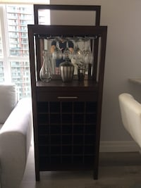Beautiful, Contemporary Solid Wood Bar/Wine Stand Toronto