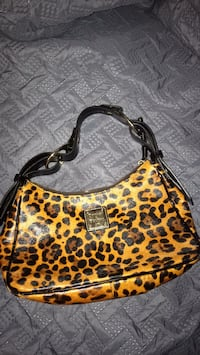 Brown and black leopard print Dooney and Bourke Bag Hoover, 35216