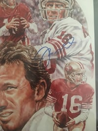 Autographed Joe Montana Plaque San Jose, 95136