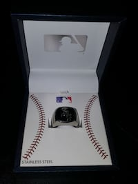 Men's Stainless Steel Chicago White Sox Ring North Bergen, 07047