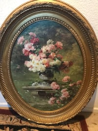 """Oval traditional garden picture 29""""x24"""" Las Vegas, 89148"""