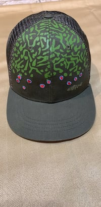 RYW- Rep Your Water Green Mesh Trucker Snapback Hat, Fish Scale Print, New No tag Roanoke, 24018