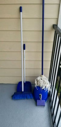 blue and gray upright vacuum cleaner Houston, 77091