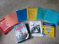 Lot of teaching learning French materials, used for teaching, songs, t