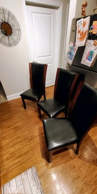 Set of 3 Modern Leather Chairs.  Jessup, 20794