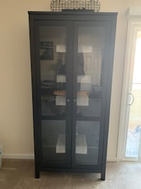 black wooden framed glass display cabinet Baltimore, 21236