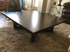 Low square coffee table