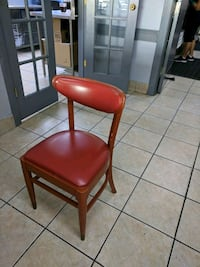 red and black leather padded chair Ormond Beach, 32174
