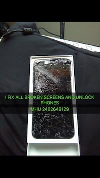 I fix all broken phones iphone 4,4s,5,5c,5s,6,6+,6s,6sq+,7,7+,8,8+,x and all samsung phones repairs Burtonsville