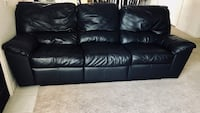 black leather 3-seat sofa Visalia, 93291