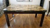 rectangular brown and black wooden coffee table Whitby, L1N 7K2