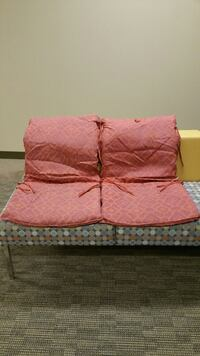 TWO (2) ONE-PIECE COMFORT CUSHIONS for OUTDOOR CHAIRS (firm price) Arlington, 22204