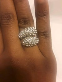 Silver Diamond Studded Ring College Park, 20740