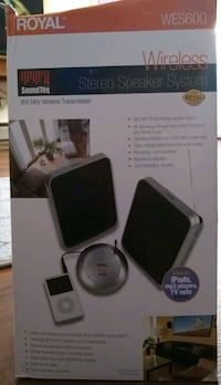 Royal Wireless Stereo Speaker System- great for iPods, mp3 players, tv