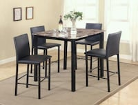 Top Counter Height Dinette Set pub style table set Houston, 77023