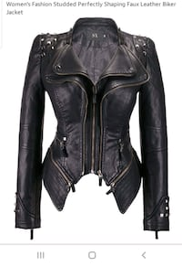 Studded leather jacket size XL Upper Marlboro, 20774
