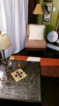 FOR SALE: Large Microsuede/Wood Frame Chair, etc. Columbus, 43210