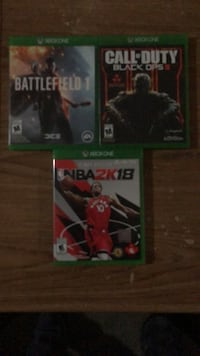 NBA2k18, Black ops 3, and battlefield 1  Vaughan, L4L 7M2