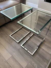 PAIR of glass top side tables Coquitlam, V3E 0L4