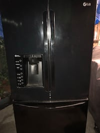 black side by side refrigerator with dispenser Huntington Beach, 92647