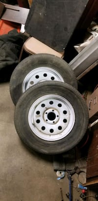 3 -15in trailer wheels