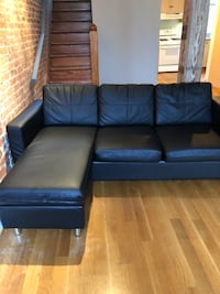 black leather sectional sofa with ottoman Silver Spring, 20903