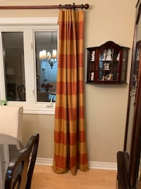 "100% silk drapes 48 x 108"" long 4 panels, rod not included"