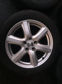 4 tires and rims for Toyota Camry all season tires 3 rims and good condition just only one rims small damage  Brampton, L6R 3M6