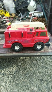 red fire truck old