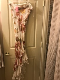 women's white and pink floral sleeveless dress Las Vegas, 89123