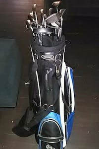black and blue golf bag with golf clubs Washington, 20024