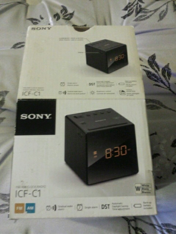Sony digital alarm clock/radio