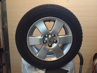 4 tires & aluminium rims for Toyota Corolla used 1yr includes bolts Toronto, M6S 3L2