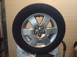 4 tires & aluminium rims for Toyota Corolla used 1yr includes bolts
