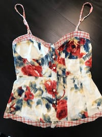 Women's Floral Tank Dress Top Size Small