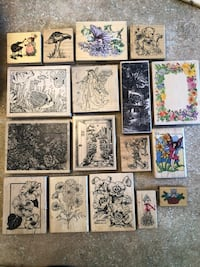 17 rubber craft stamps  Lakewood, 80226