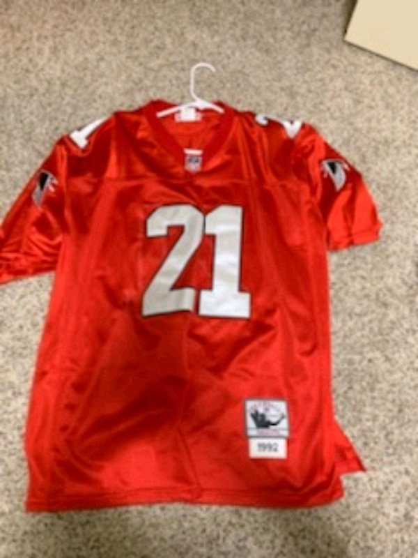 info for 8d85c 63bc2 Deon Sanders Throwback Falcons Jersey