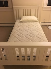 Twin mattress with box spring and white bed if wanted . Old Field, 11733