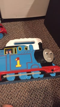 Thomas the tank storage container. Holds many trains.z Vaughan, L4J 5L7