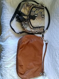women's brown and white snake print shoulder bag Whittier, 28789