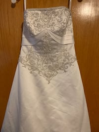 Complete Wedding dress set size 6p
