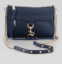 EUC Rebecca Minkoff Mini Mac crossbody bag in midnight blue Toronto